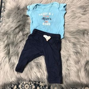 Carter's Mom's the boss outfit 3 months boy